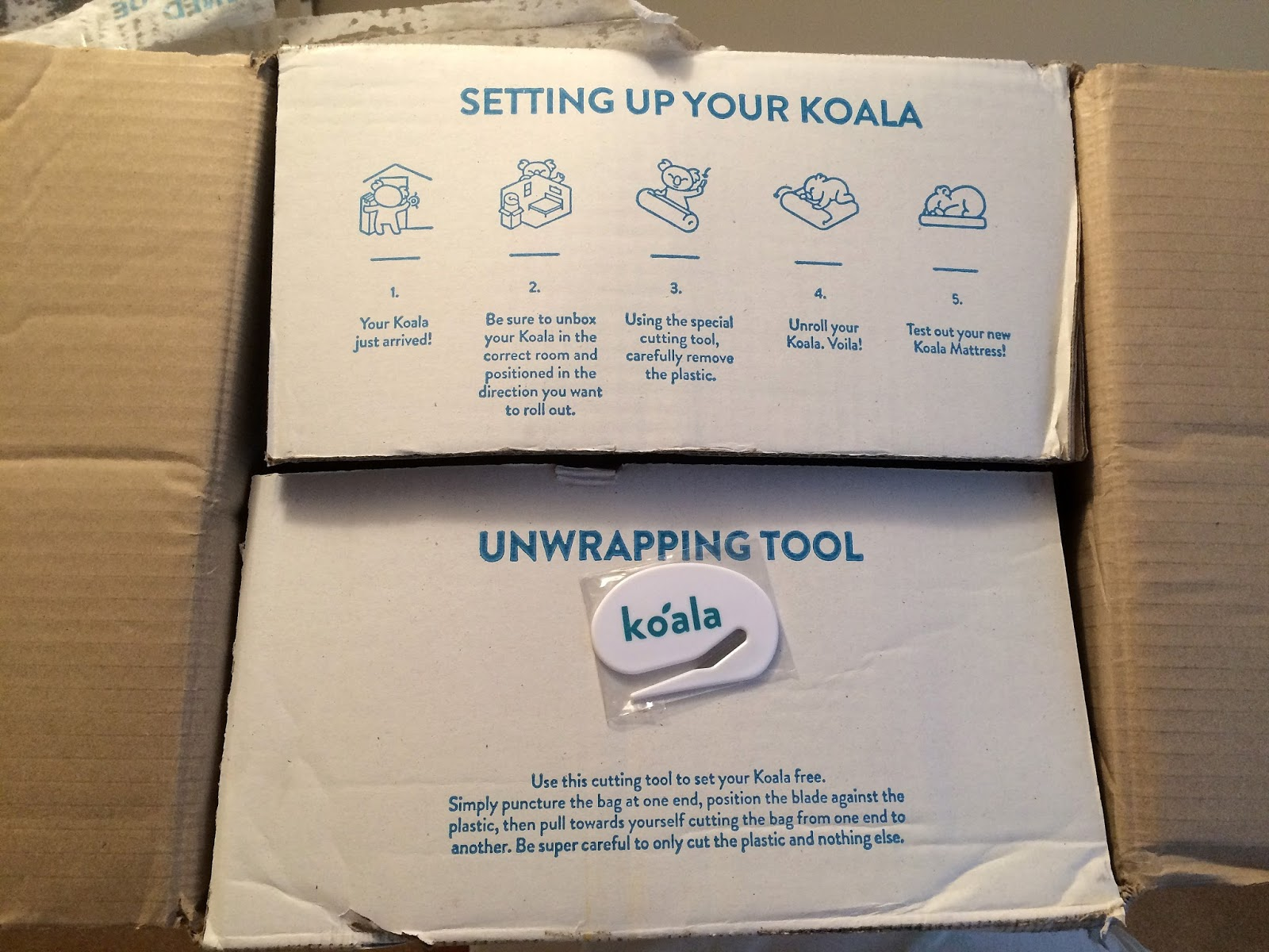 Instructions how to set up Koala Mattress