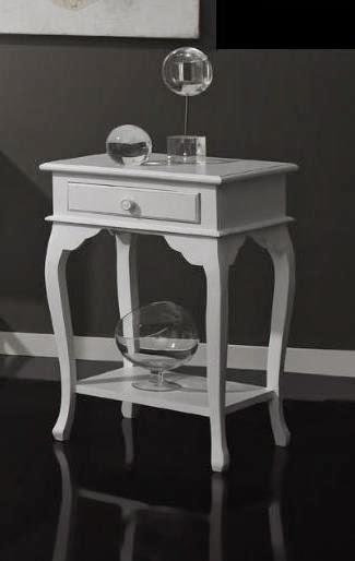 mesilla auxiliar blanca, mesilla blanca, mesa telefono blanca