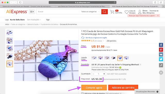 passo3: Tutorial de como fazer compras no site aliexpress (site da china)