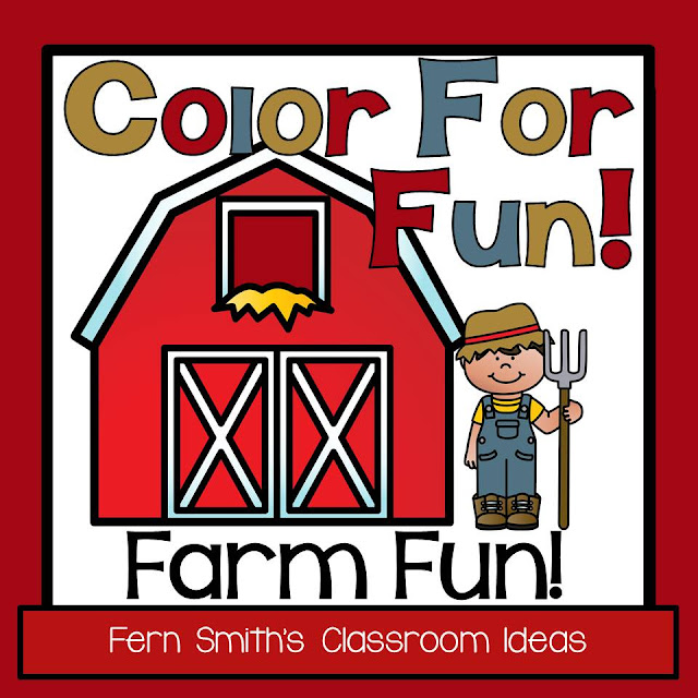 Fern Smith's Classroom Ideas Farm Animals Color For Fun - Coloring Pages resource at Teacherspayteachers.