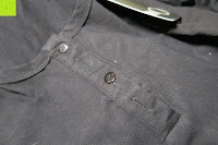 Knöpfe: StyleDome Damen Spitze Langarm Kragen Runde Elastische Shirt Tops
