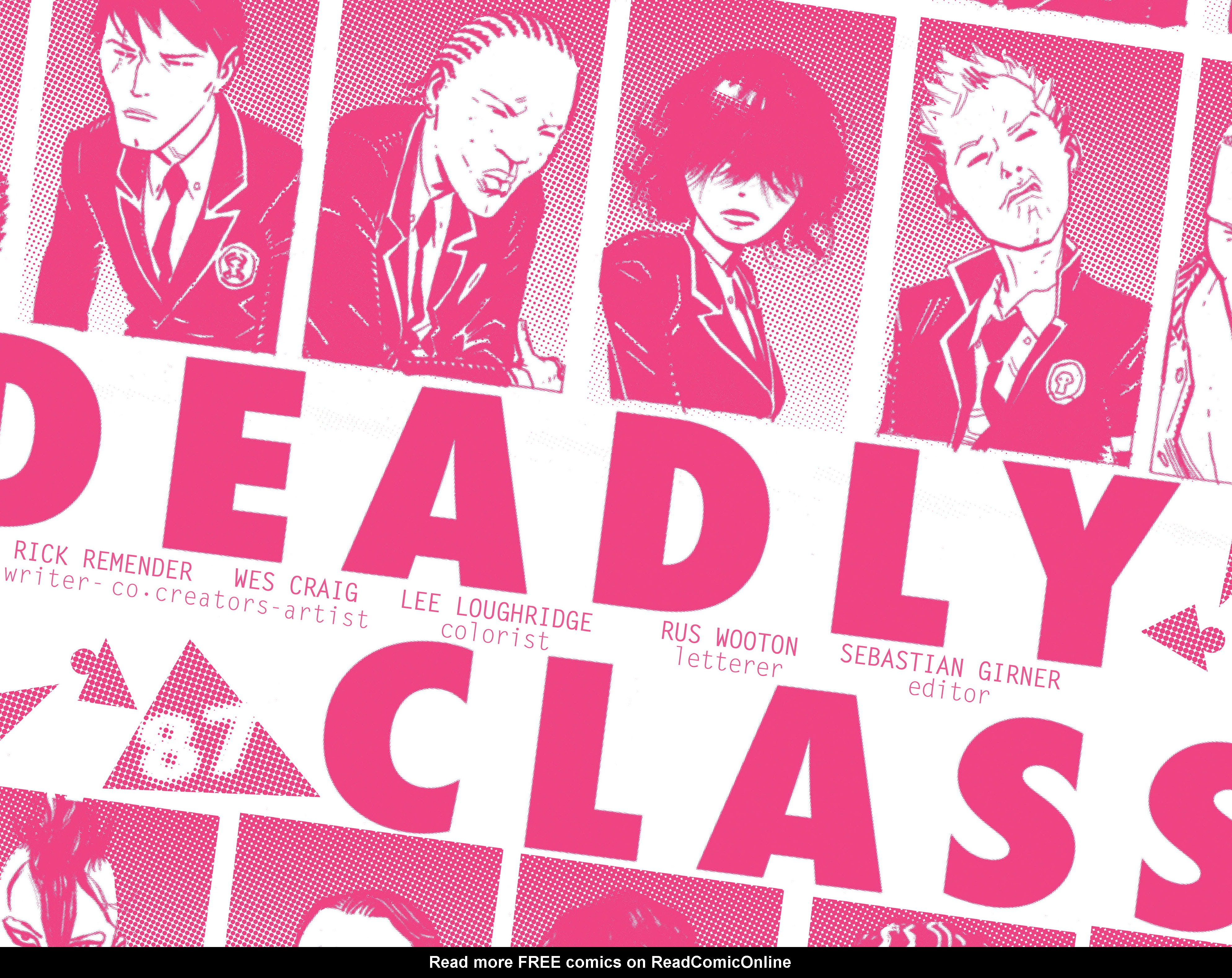 Read online Deadly Class comic -  Issue #4 - 8
