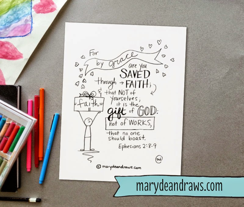Scripture Coloring Page Printables  As in Adam   For By Grace     The girls and I have been working on these memory verses the last few  weeks  so I thought I d share printables for you to use too