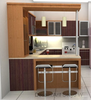Desain dapur dan kitchen set rumah tropis for Kitchen design 4x4