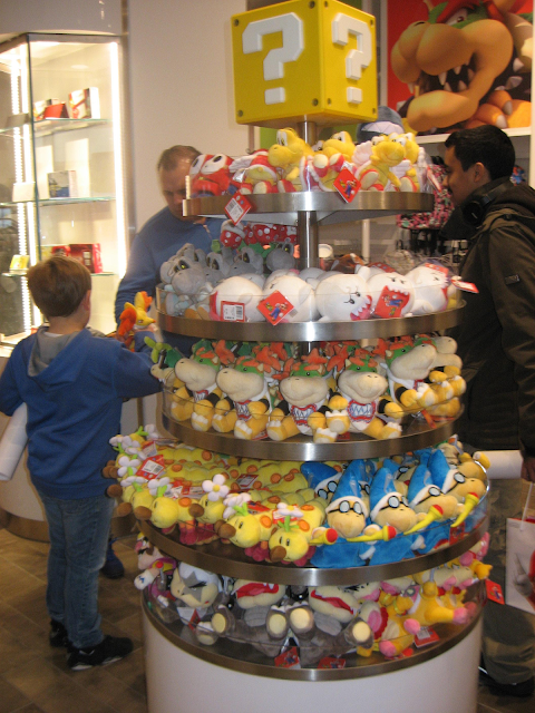Nintendo World Store NY Mario character plushies Kamek Wendy Morton Koopa Bowser Jr. Boo Wiggler Shy Guy Paratroopa