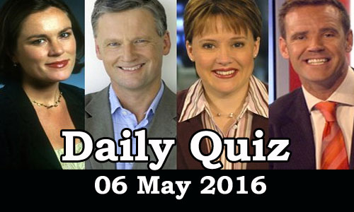 Daily Current Affairs Quiz - 06 May 2016