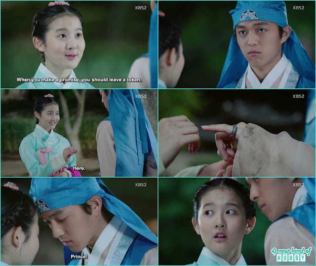 chae kyung give the ring to prince yeok as the token for their friendship -  Seven Day Queen: Episode 3 korean Drama