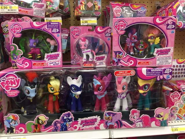 power ponies spotted in target stores mlp merch
