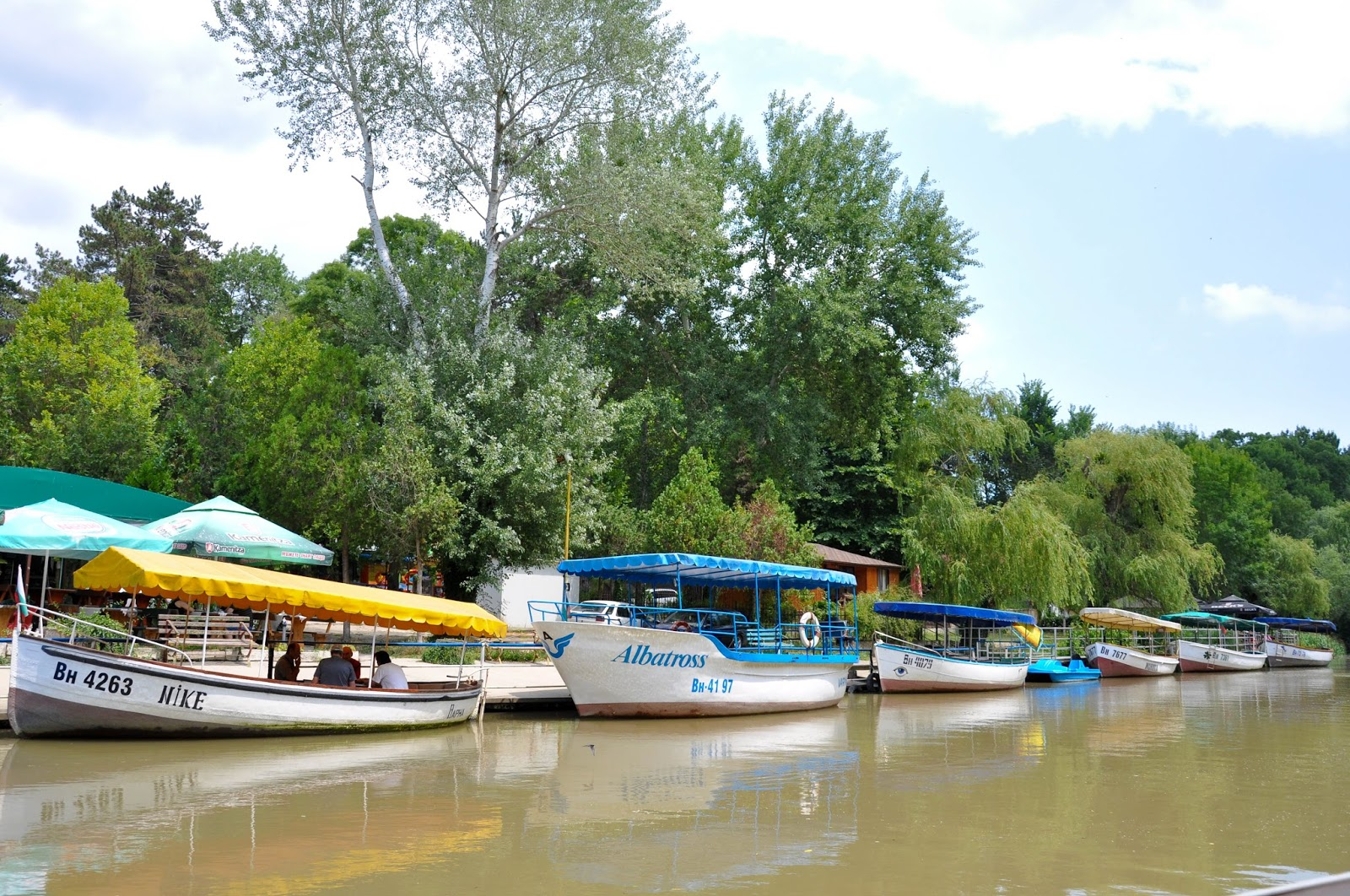 Boats on the Kamchia river, Bulgaria