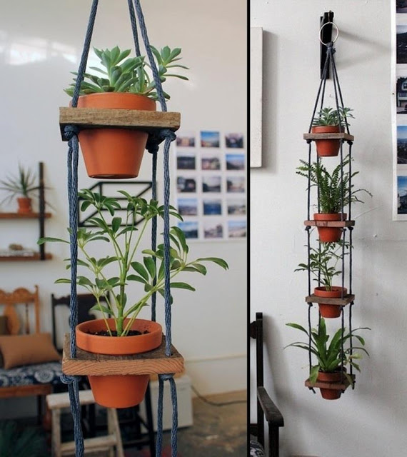 how to recycle recycled hanging planters. Black Bedroom Furniture Sets. Home Design Ideas