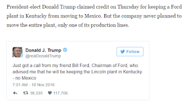 President-elect Donald Trump claimed credit