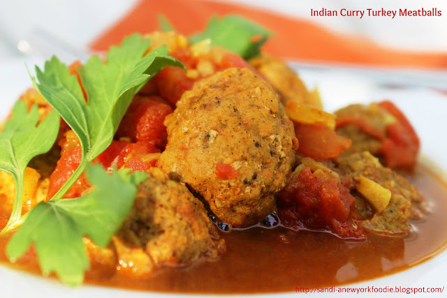 Indian Curry Turkey Meatballs