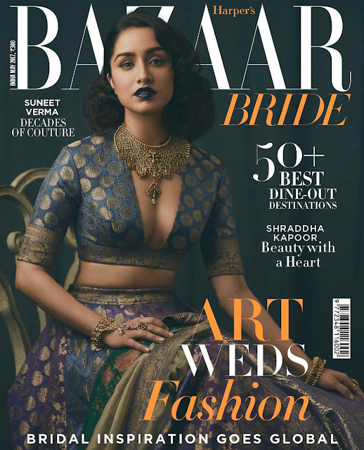 Shraddha Kapoor Sizzles on Bazaar Bride May 2017 Cover