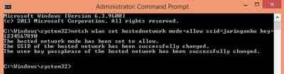 Pembuatan Adhoc Berhasil - cara sharing file antar laptop windows 8