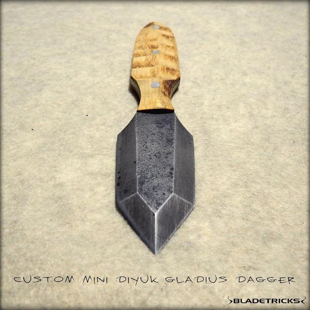 knife maker Bladetricks Gladius style hand made dagger