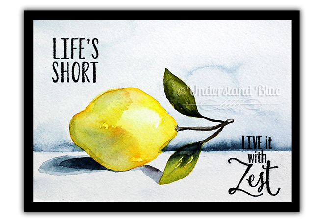Still Life with Stampin' Up! Lemon Zest and Schmincke Watercolor by Understand Blue