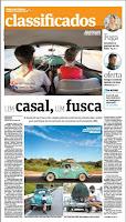 capa reportagem do jornal folha de são paulo sobre a viagem de natal um casal um fusca 1200 acampamento escoteiros