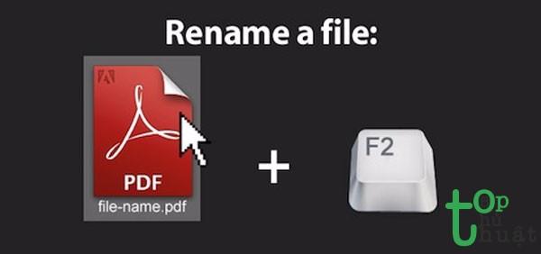 Đổi nhanh tên một file bất kỳ