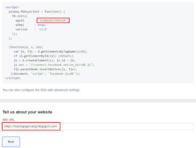Cara Mudah Membuat Aplikasi Facebook untuk Blogger