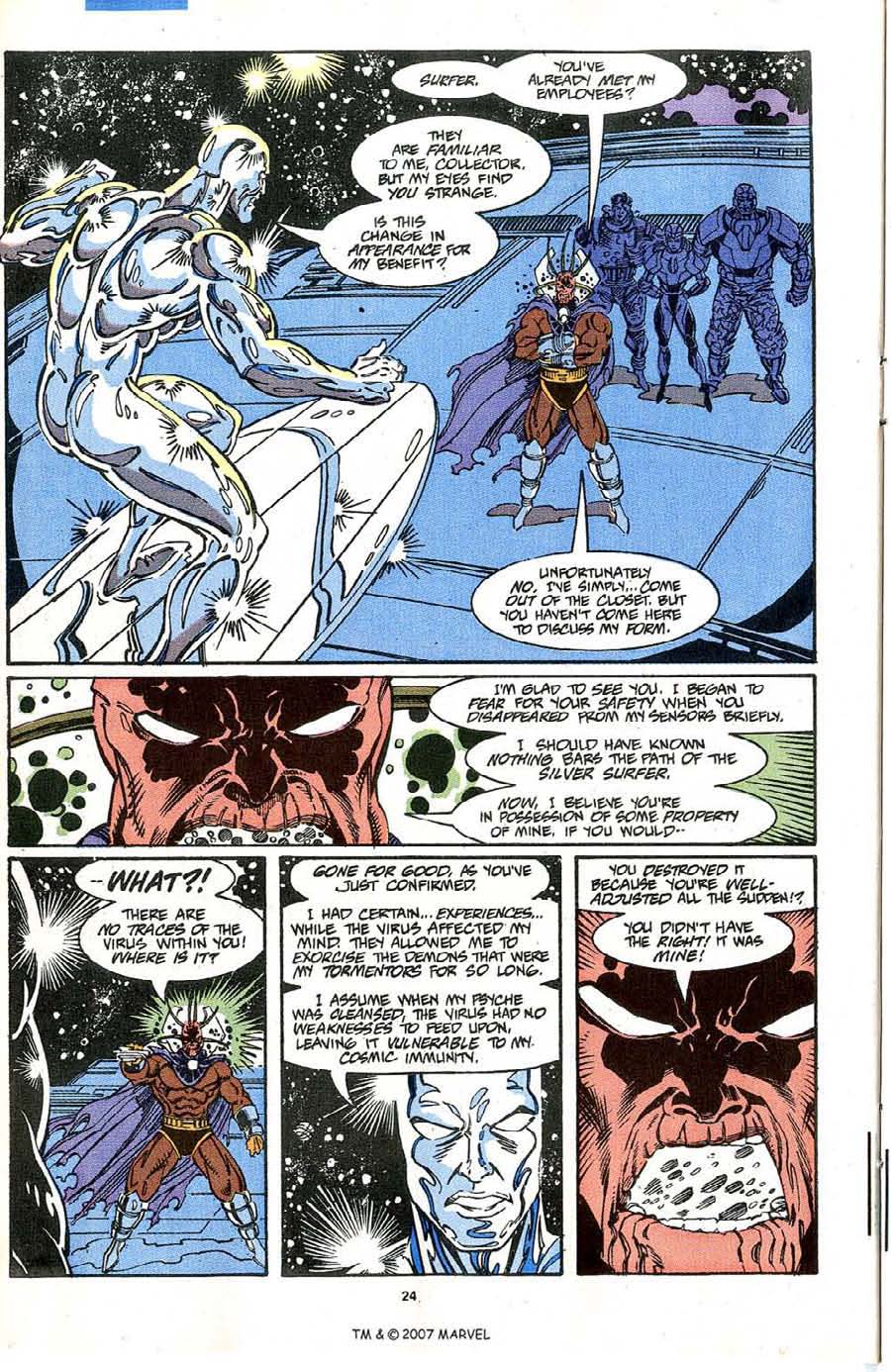 Read online Silver Surfer (1987) comic -  Issue #64 - 26
