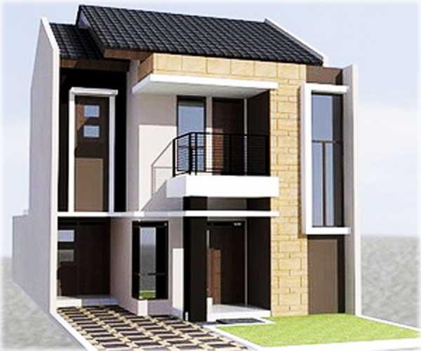 tampak depan desain rumah minimalis 2 lantai sederhana