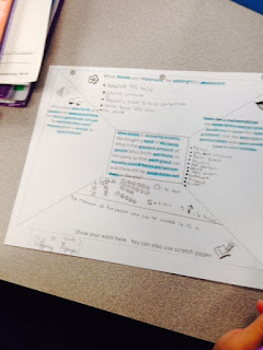 Have students use highlighters to notes important information in the frame or word problem.