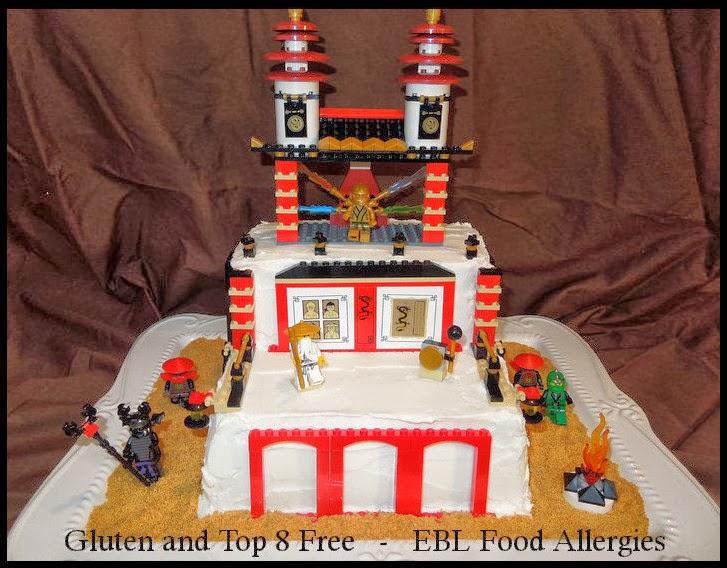 Lego Ninjago 174 Birthday Cake Gluten And Top 8 Allergy
