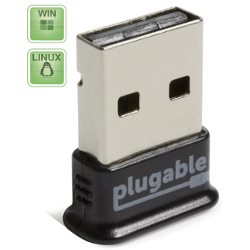Plugable USB Bluetooth 4.0 Low Energy Micro Adapter (Windows 10, 8.1, 8, 7, XP, Raspberry Pi, Linux Compatible; Classic Bluetooth, and Stereo Headset Compatible)