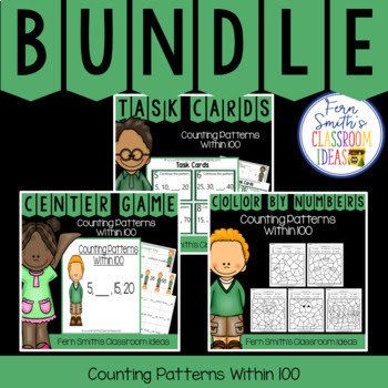This bundle has task cards, color by number printables and center games for Second Grade Go Math 1.8, Counting Patterns Within 100. You will love how easy it is to prepare this easy to prep bundle for your math class. Perfect for small groups, read the room, centers, scoot, tutoring, Around the World whole class game, homework, seat work, so many ways to use these task cards that the possibilities are endless. Your students will enjoy the freedom of independent learning with these color by code worksheets and reviewing important skills with the center games! Perfect for an assessment grade for the week or for a substitute teacher day!  This bundle has the following three resources:  1. 2nd Grade Go Math 1.8 Counting Patterns Within 100 Task Cards 2. 2nd Grade Go Math 1.8 Counting Patterns Within 100 Quick and Easy to Prep Centers 3. 2nd Grade Go Math 1.8 Color By Numbers Counting Patterns Within 100