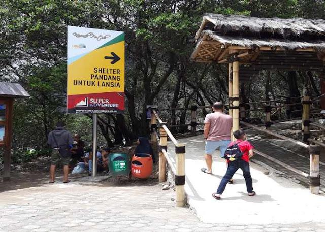 Wahana Shelter Pandang Untuk Lansia di Kawah Putih Ciwidey Bandung