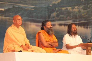 Baba Ramdev, Sri Sri Ravi Shankar & Swami Avdheshanand