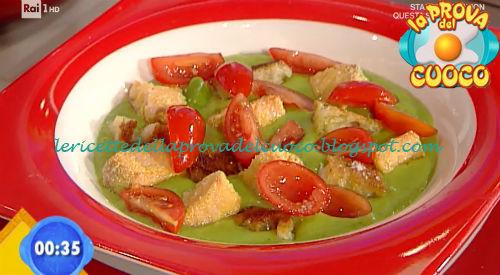 Crema di verdure con crostini e salmone ricetta Marretti da Prova del Cuoco