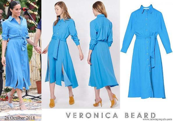 Meghan Markle wore Veronica Beard Sky Blue Cara dress