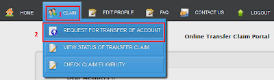 Online PF Account Transfer