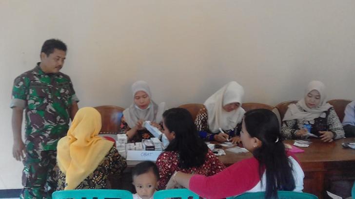 Babinsa 11/Donorojo Hadiri Dalam Penyuluhan Kesehatan Kepada Kader Posyandu