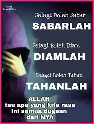 salam jumaat, sabar, selagi sabar, quote, kata hikmah islam