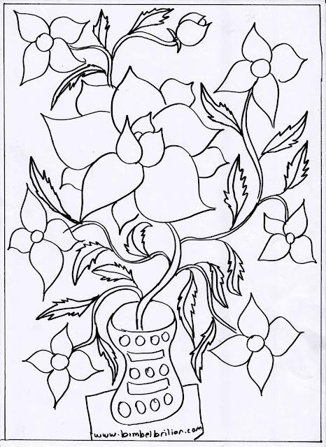 1. Gambar Bunga Dalam Pot
