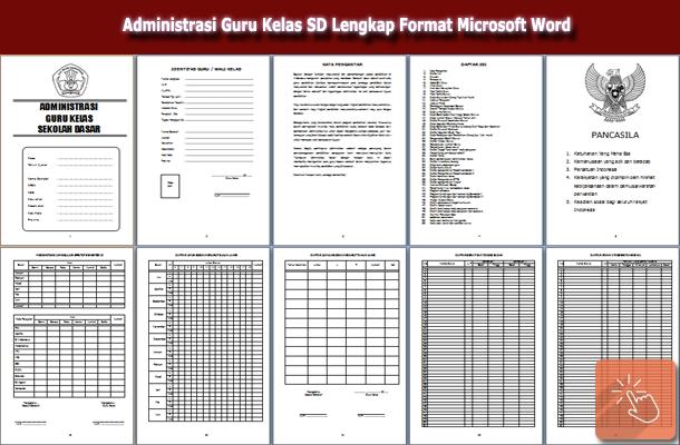 Download Administrasi Guru Kelas SD Lengkap Format Microsoft Word
