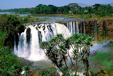 Blue Nile waterfall