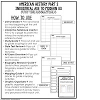 American History Outline Notes, American History Test Prep, American History Test Review, American History Study Guide, American History Summer School, American History Unit Reviews, American History Interactive Notebook Inserts, Western Expansion, Industrial Age, Immigration, Urbanization, Progressives, Imperialism, World War I, 1920s, Great Depression, New Deal, World War II, Cold War, 1950s, JFK, LBJ, 1960s, Vietnam War, Civil Rights Movement, Nixon, Ford, Carter, Reagan, Bush, Clinton, Bush, Obama, Trump