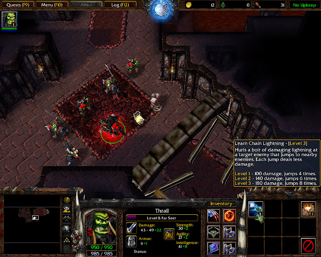 The Oracle Mission 26 | Chain Lightning Screenshot | Warcraft 3: Reign of Chaos