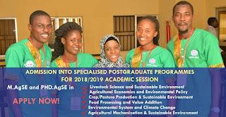 FUNAAB CEADESE Specialised Postgraduate Programmes Admission Form