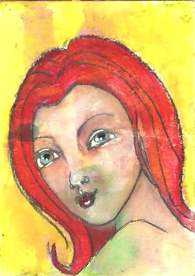 Whoopidooings: Carmen Wing - Red Haired Girl ATC/ACEO