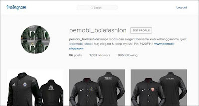 akun pemobi_bolafashion di instagram untuk berjualan online