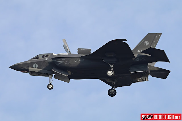 F-35B Italian Navy test flight