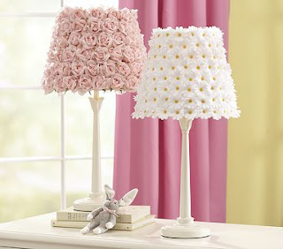 Pottery Barn Knockoff Pink Rosette Lamp Designs By A Rose