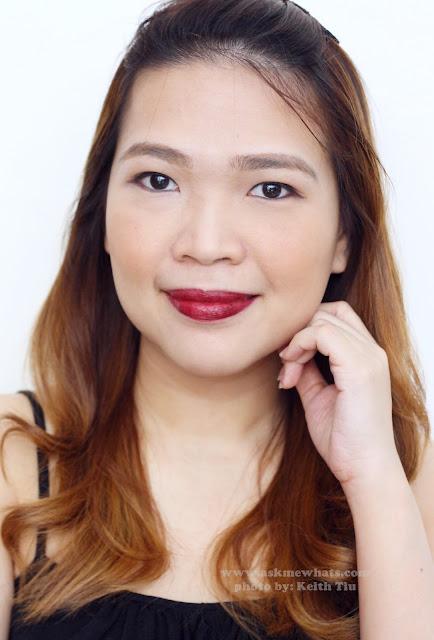 a photo of POP Beauty Matte Velvet Lipstix in Blackberry Burst