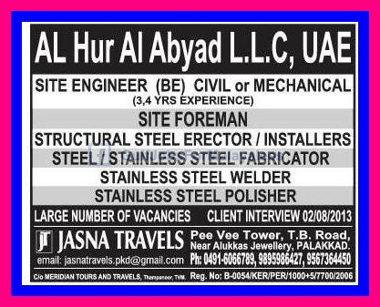 Al Hur Al Abyad Llc Uae Large Vacancies Gulf Jobs For