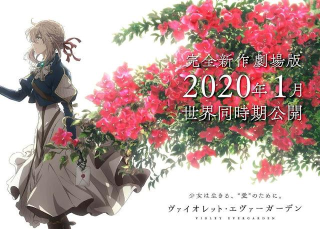 كشف الموقع الرسمي لأنمي Violet Evergarden عن العرض الدعائي بالإضافة إلى الصورة التي بالأعلى للفلم القادم في يناير 2020، الموقع الرسمي كشف أيضًا بأن الفلم سيكون جديدًا كليًا