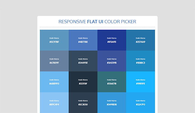 Make a responsive Flat UI Color Picker